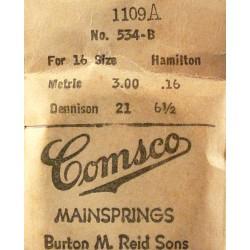 Hamilton 16 Size 534B / 1109A