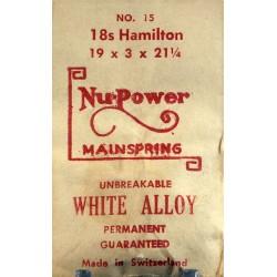 Hamilton 18 Size - 15 - WHITE ALLOY