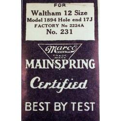 Waltham 12 Size - 2224A