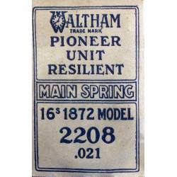 Waltham 16 Size - 1872 - 2208