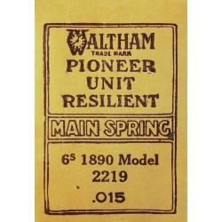 Waltham 6 Size 1890 - 2219
