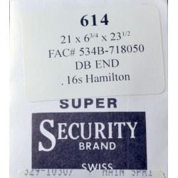 Hamilton 16 Size - 534B / 718050
