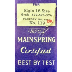Elgin 16 Size Mainspring - 6164