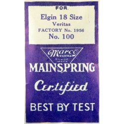 Elgin 18 Size Mainspring - 1956