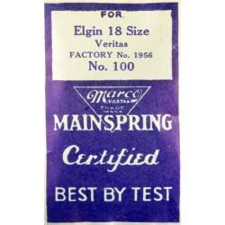 Elgin 18 Size Mainspring - 1956
