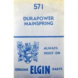 Elgin 16s - 571 Durapower (WHITE ALLOY)