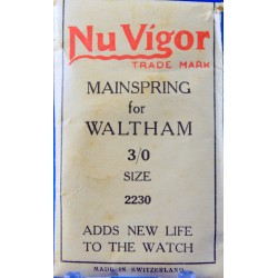 Waltham 3-0s Mainspring