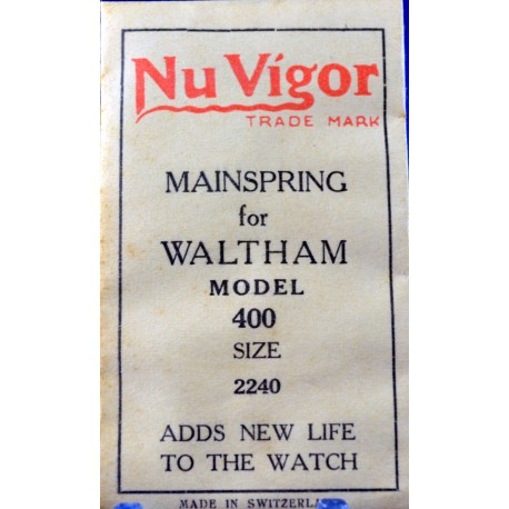 "Waltham ""Model 400"" Mainspring"